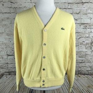 883ef0121ebda VTG Izod Lacoste Cardigan Sweater Size Large